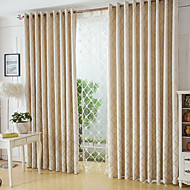 To paneler Window Treatment Moderne , Geometrisk Soverom Poly/ Bomull Blanding Materiale gardiner gardiner Hjem Dekor For Vindu
