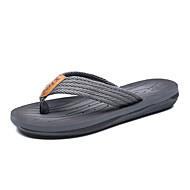 Herren-Slippers & Flip-Flops-Lässig-PU-Flacher Absatz-Fersenriemen-Grau Hellbraun