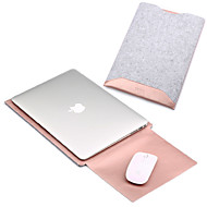 Mangas para MacBook Pro 15 Polegadas MacBook Air 13 Polegadas MacBook Pro 13 Polegadas MacBook Air 11 Polegadas Macbook Côr SólidaCouro