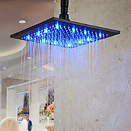 Antique Rain Shower Antique Bronze Feature-Rainfall Eco-friendly LED , Shower Head