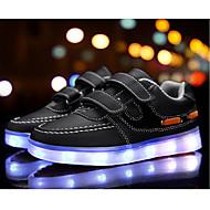 tanie Obuwie chłopięce-Dla chłopców Buty Syntetyczny Wiosna Lato Świecące buty Comfort Tenisówki Klamra LED Haczyk i pętelka na Casual Na wolnym powietrzu White