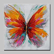 billiga POP Art-Hang målad oljemålning HANDMÅLAD - Popkonst Moderna / Europeisk Stil Inkludera innerram / Sträckt kanfas