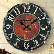 Traditional Country Retro Floral/Botanicals Characters Music Wall ClockRound 30*30 Indoor/Outdoor Clock
