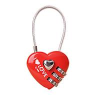 かばん用南京錠 南京錠 番号錠 桁 コード化されたロック バッグ用小物 紛失・盗難防止 用途 ローラー付きスーツケース メタル