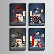 vászon Set Rajzfilm Absztrakt portré Modern,Egy elem Vászon Vízszintes Print Art fali dekoráció For lakberendezési