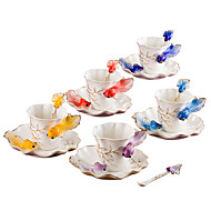 cheap Drinkware-1PC European Porcelain Goldfish Coffee Cup Creative Ceramics Wedding Birthday Gift
