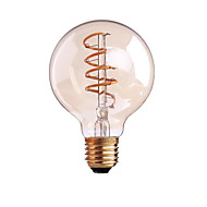 4W B22 E26/E27 フィラメントタイプLED電球 G80 1 LEDの COB 調光可能 温白色 400lm 2700-3500K 交流220から240 AC 110-130V