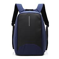 billige Computertasker-Herre Tasker Nylon rygsæk Lynlås Ensfarvet Blå / Sort / Grå