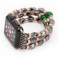 billiga Smart klocka Tillbehör-Jade agat pärla pärlor band handgjorda smycken för äpple klocka iwatch 38mm 42mm