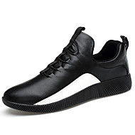 Men's Sneakers Spring Summer Fall Comfort Customized Materials Outdoor Casual Athletic Flat Heel Lace-up Black White