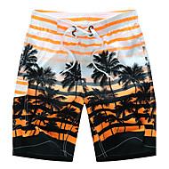cheap -Men's Active / Boho Plus Size Cotton Loose / Shorts Pants - Striped Orange / Summer / Beach
