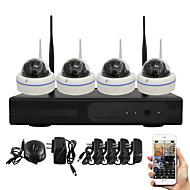 yanse® 1.0mp PNP NVR kit ir hämäränäön turvallisuus 15led WiFi IP-kamera CCTV-järjestelmä
