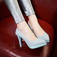 Kényelmes Újdonság-Stiletto-Női cipő-Magassarkúak-Esküvői Irodai Ruha Alkalmi Party és Estélyi-Bőrutánzat PU-Fekete Kék Lila Ezüst