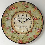 伝統風 田園風 アンティーク レトロ風 休暇 家族 壁時計,ノベルティ柄 ウッド プラスチック 35*35 屋内/屋外 屋内 クロック