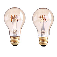 B22 E26/E27 フィラメントタイプLED電球 G60 1 LEDの COB 調光可能 温白色 400lm 2700-3500K 交流220から240 AC 110-130V