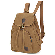 Unisex Bags All Seasons Canvas Backpack Metallic for Shopping Casual Sports Formal Outdoor Office & Career Blue Black Coffee Earth Yellow