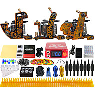 cheap Discount Tattoo Kits-Solong Tattoo Tattoo Machine Professional Tattoo Kit 3 alloy machine liner & shader High Quality LCD power supply 2 x alloy grip 50