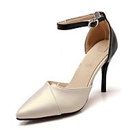 Mujer Zapatos Ante Verano D'Orsay y Dos Piezas Tacones Paseo Tacón Stiletto Dedo Puntiagudo Negro / Rojo / Almendra 2f77atD