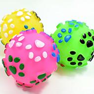 猫用おもちゃ 犬用おもちゃ ペット用おもちゃ ボール型 噛む用おもちゃ インタラクティブ 歯磨き用おもちゃ キーッ 弾性ある 犬 耐久 フットプリント レインボーボール Halloween ペット用