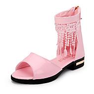baratos Sapatos de Menina-Para Meninas Sandálias Sapatos para Daminhas de Honra Gladiador Couro Primavera Verão Outono Atlético Casual Caminhada MocassimSalto