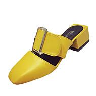 נשים שטוחות הליכה נוחות מגפי נמושה PU אביב סתיו קזו'אל אבזם עקב שטוח שחור צהוב אדום שטוח