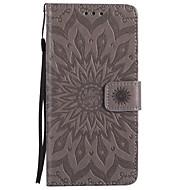 Pro iPhone X iPhone 8 Pouzdra a obaly Peněženka Pouzdro na karty se stojánkem Flip Vytlačený vzor Vzor Oboustranný Carcasă Mandala Pevné