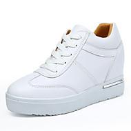 Damen-Sneaker-Outddor Büro Lässig-Kunstleder-Keilabsatz-Creepers