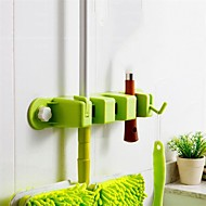 1Pcs  Useful Storage Kitchen Clean Tool Rack Mop Brush Broom Organizer Holder Hanger