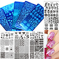 1pcs Nail Art Tool Nail DIY Tools Nail Painting Tools Skabelon Moderigtigt Design Negle kunst Manicure Pedicure Stilfuld / Mønstret / Tilbehør / Stempling Plate