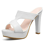 cheap Small Size Shoes-Women's Shoes Leatherette Spring Summer Gladiator Club Shoes Sandals Chunky Heel Round Toe Open Toe for Casual Party & Evening Dress