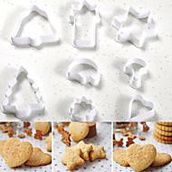 ieftine -Instrumente de coacere Plastic Halloween / Crăciun / Nuntă Tort / Biscuiți / Ciocolatiu coacere Mold 8pcs