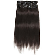 Cheap human hair extensions online human hair extensions for 2017 9pcsset deluxe 120g 1b natural black off black clip in hair extensions 16inch pmusecretfo Image collections