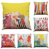 """tanie Zestawy poduszki-zestaw 6 kolorowych wzorów graffiti pościel domowej roboty kanapa kanapa dekoracyjne poszewki (18 """"* 18"""")"""