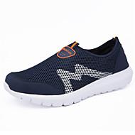 Unisex Adidași Tălpi cu Lumini Confortabili Primăvară Vară Toamnă Tul Plimbare De Atletism Casual Toc Plat Albastru Închis Gri Închis