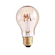 4W B22 E26/E27 Lâmpadas de Filamento de LED G60 1 COB 1000 lm Branco Quente 2700-3500 K Regulável AC 220-240 AC 110-130 V