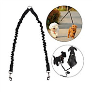 犬 リード ハンズフリーリーシュ 調整可能 / 引き込み式 反射 安全用具 ランニング ソリッド ナイロン ブラック レッド ブルー