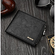 Men Wallet PU Casual Black Brown