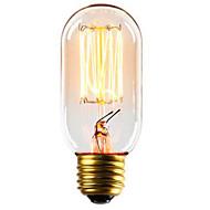 baratos Incandescente-1pç 40 W E26 / E27 T45 Branco Quente 2300 k Retro / Decorativa Incandescente Vintage Edison Light Bulb 220-240 V