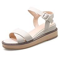 baratos Sapatos Femininos-Mulheres Sapatos Flanelado Primavera Verão Sandálias Salto Plataforma Ponta Redonda Presilha para Casual Escritório e Carreira Social