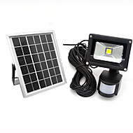 10W LED Motion Sensor Floodlight IP65 Cool/Warm Color Outdoor Solar Floodlight PIR Waterproof Led Reflector Solar Pannel