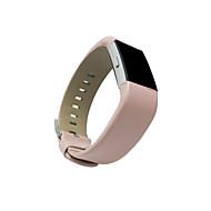 billiga Smart klocka Tillbehör-Klockarmband för Fitbit Charge 2 Fitbit Klassiskt spänne Läderloop Metall Läder Handledsrem