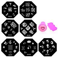 11 pcs Bijuterie unghii Ștampila de ștanțare nail art pedichiura si manichiura Zilnic Floare / Modă / ștampilare Placă / Unghiul de bijuterii / MetalPistol