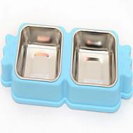 ネコ 犬 フィーダ ペット用 ボウル&摂食 携帯用 イエロー ブルー ピンク
