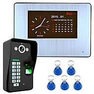 billige Dørtelefonssystem med video-7 lcd opptak hd 1000tvl dvr gjenkjenning av fingeravtrykk video dør telefon intercom system kit