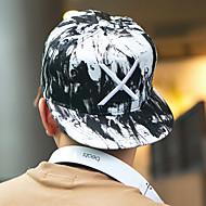 Unisex Kšiltovka Sluneční klobouk-Patchwork Bavlna Černá