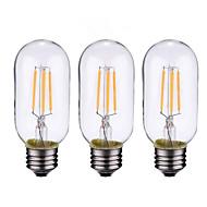 4W B22 E26/E27 フィラメントタイプLED電球 4 LEDの COB 調光可能 温白色 500-600lm 2700-3500K 交流220から240 AC 110-130V