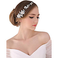 cheap Wedding Headpieces-Pearl Crystal Fabric Alloy Tiaras Headbands Flowers Head Chain 1 Wedding Special Occasion Party / Evening Outdoor Headpiece