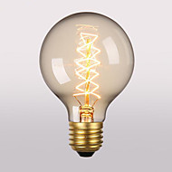 billige Glødelampe-1pc 40 W E26 / E27 G80 Varm hvit 2300 k Kontor / Bedrift / Dekorativ Glødende Vintage Edison lyspære 220-240 V