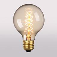 billige Glødelampe-1pc 60W E26/E27 G80 2300 K Glødende Vintage Edison lyspære AC 220V AC 220-240V V
