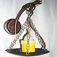 tanie Kinkiety Ścienne-Wiejski Lampy ścienne Na Metal Światło ścienne 110-120V 220-240V